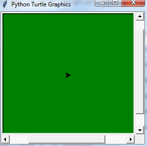 Python `turtle` background color