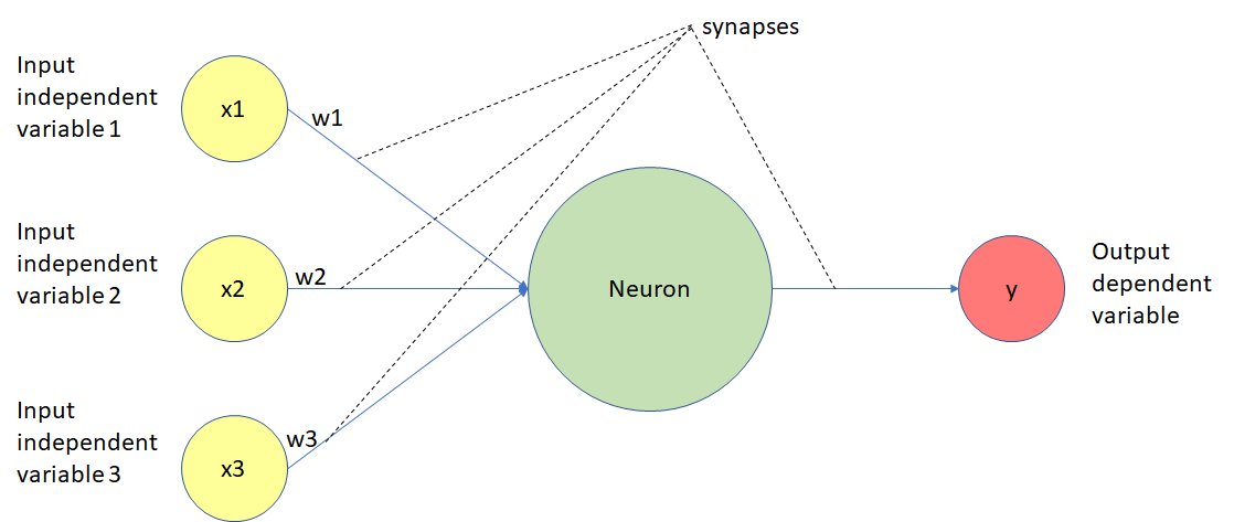 The function of a neuron in a deep learning model